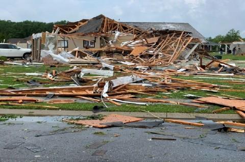 Korban Tewas Tornado di AS Bertambah Jadi 32 Orang
