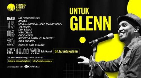 Donasi Konser Virtual Sounds Rights Vol. 2: Untuk Glenn Terkumpul Rp8,3 Juta