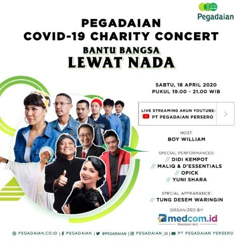 Donasi Bersama Pegadaian Tanpa Keluar Uang, Cukup dengan Nonton Konser
