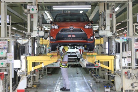 Toyota Perpanjang 'Libur' Pabrik di Indonesia