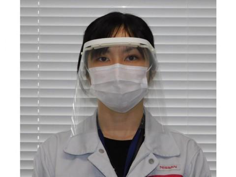 Nissan Targetkan Produksi 2.500 Face Shield per Bulan