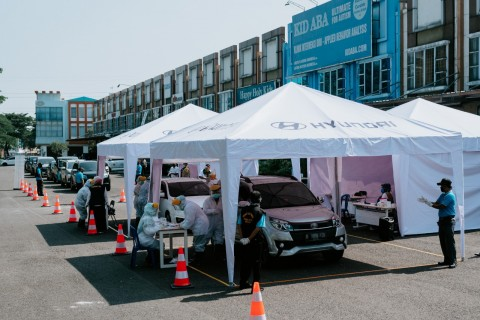 Hyundai Gelar Tes Cepat Drive-Thru Covid-19 di Jawa Barat