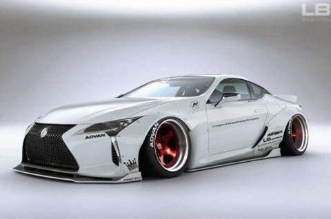 Modifikasi Lexus LC 500 Bergaya Street Racing