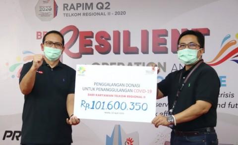 Telkom Regional II Salurkan Donasi Tanggap Bencana Covid-19