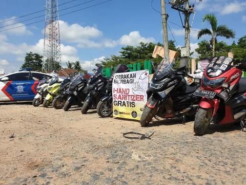 Komunitas Nmax Ini Berbagi Hand Sanitizer dari Aceh Sampai Papua