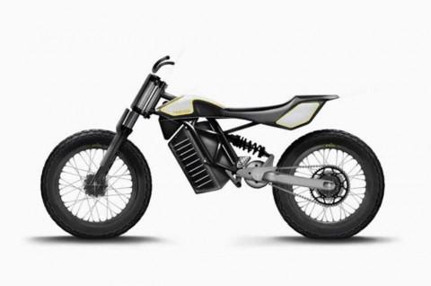 Motor Listrik Flat Tracker Garapan Trevor Motorcycles