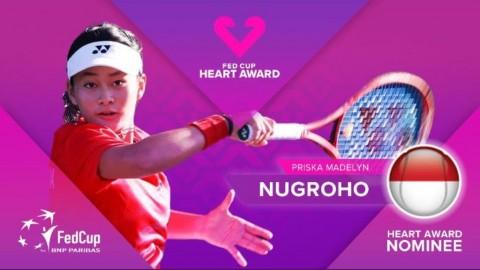 Petenis Indonesia Priska Madelyn Nugroho Masuk Nominasi Heart Award Fed Cup 2020
