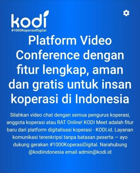 LPDB-KUMKM Sambut Baik Terobosan Koperasi Digital Ciptakan Platform Meeting Online Untuk Koperasi