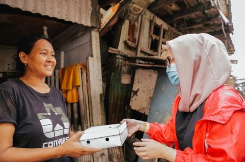 PSI Bagikan Ribuan Paket Makanan untuk Warga Pademangan