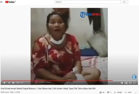[Cek Fakta] Video Viral Sejumlah Ibu Protes Bantuan 2 Mi Instan dan 1 Liter Beras? Ini Faktanya