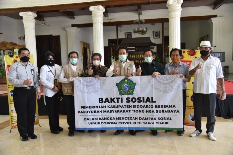 Warga di Sidoarjo Saling Bantu Selama Pandemi