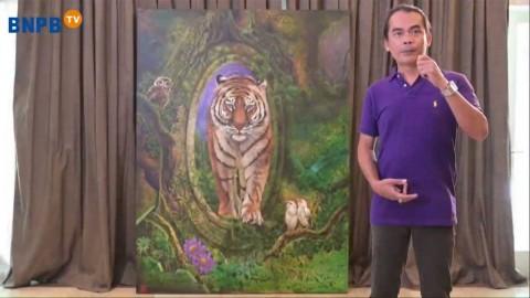 Lukisan Harimau Terjual Rp150 Juta dalam Konser Bersatu Melawan Corona