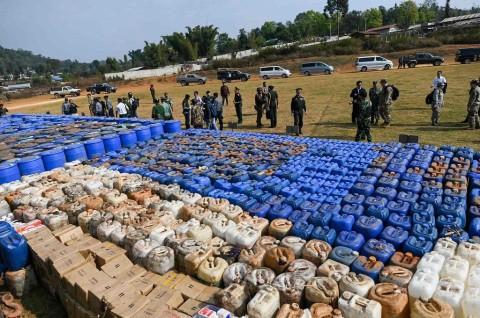 Myanmar Klaim Lakukan Penyitaan Narkoba Terbesar di Kawasan