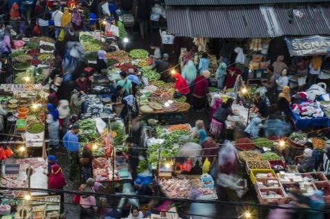 Potret Kepadatan Pasar Tradisional di Bandung