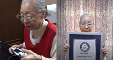Hamako Mori Terima Rekor Dunia sebagai YouTuber Game Tertua