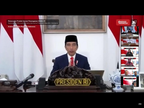Harkitnas 2020, Jokowi Luncurkan 55 Produk Inovasi Covid-19