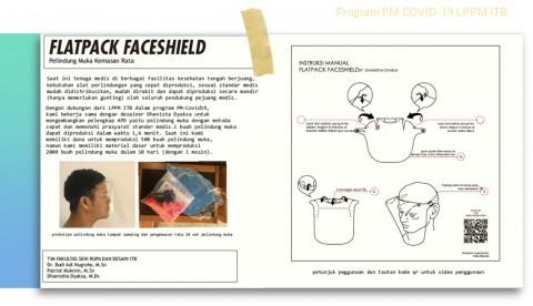 ITB Kembangkan <i>Flatpack Face Shield</i>, Ini Keunggulannya