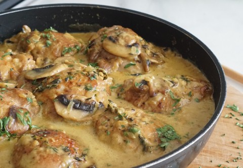 Resep Ayam Krim Kari Jamur untuk Hidangan Lebaran