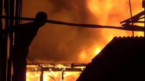 Permukiman Padat di Pademangan Dilalap Api Jelang Buka Puasa