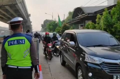 H-1 Lebaran 6.947 Kendaraan Keluar Jakarta Diminta Putar Balik
