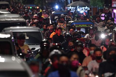 Kemacetan Warnai Malam Idulfitri di Jakarta