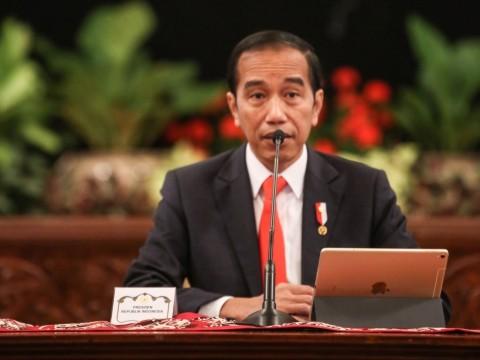 Jokowi Salat Idulfitri di Istana Bogor