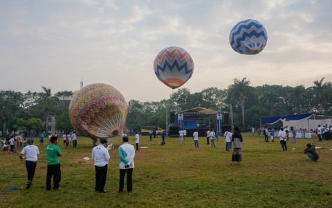 Kemenhub: Melepas Balon Udara Liar Bakal Dituntut