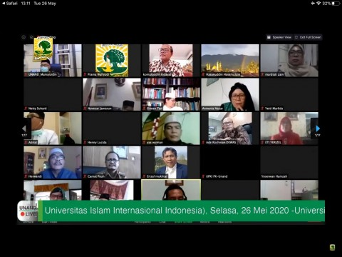 Pandemi, Sejumlah Universitas Gelar Halalbihalal Virtual
