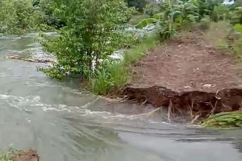 Tanggul Jebol Puluhan Rumah di Cilacap Terendam Banjir