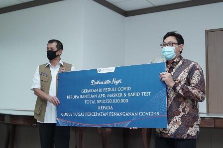 BI Salurkan Bantuan Rp13,75 Miliar Redam Covid-19
