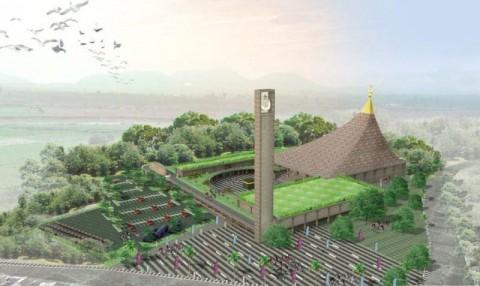 Desain Masjid dengan Bentuk Atap Tajug