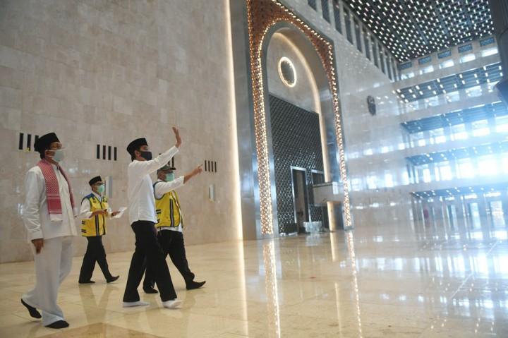 Jokowi: Masjid Istiqlal Kemungkinan Dibuka Kembali pada Juli