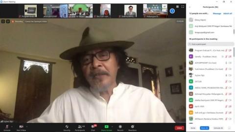 <i>New Normal</i>, Kementan Bahas Pendidikan Pertanian dengan Sujiwo Tejo