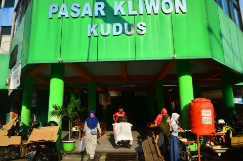Pasar Kliwon Kudus Ditutup Dua Hari