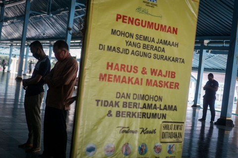 Masjid Agung Solo Belum Gelar Salat Jumat