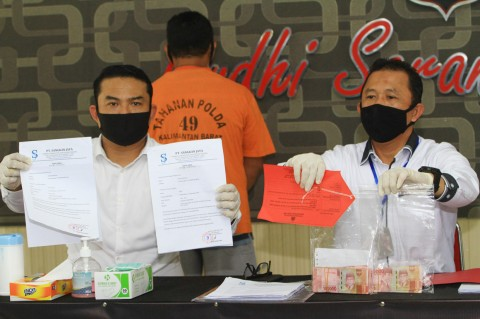 Polda Kalbar Ungkap Kasus Pemalsuan Surat Perjalanan Udara