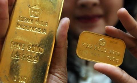 Emas Antam Turun Rp1.000/Gram