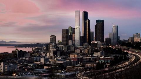 Seattle Tower Punya Taman 'Melayang'