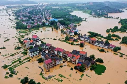 Banjir di Tiongkok Selatan dan Pusat Tewaskan 13 Orang