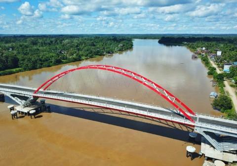 Jembatan Pendukung Konektivitas Lumbung Pangan Baru Rampung