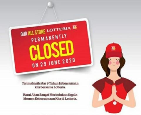 Lotteria Tutup Permanen Seluruh Gerai Mulai 29 Juni