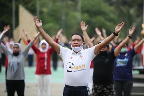WAH, Menpora Ajak Masyarakat Tetap Aktif Berolahraga