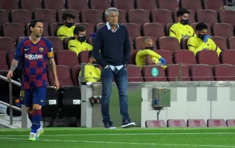 Setien Bantah Pique Soal Peluang Barcelona Raih Gelar