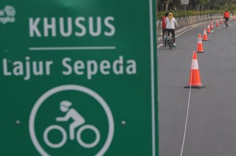 Polisi: Bersepeda di Luar Jalur Didenda Rp100 Ribu