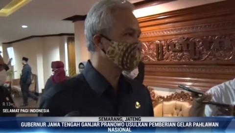 Ganjar Pranowo Usulkan 3 Tokoh Jateng jadi Pahlawan Nasional