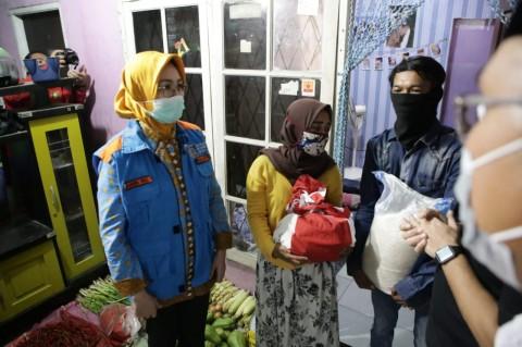 Perantau di Tangsel Mendapat Bansos Sembako