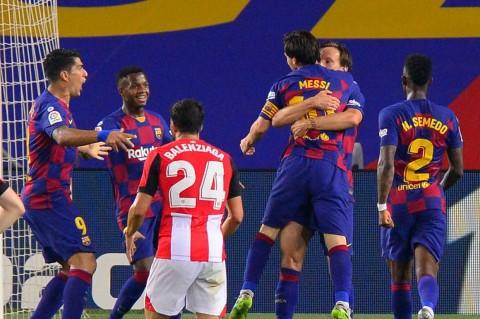 Taklukkan Bilbao, Barca Kembali Geser Madrid di Posisi Puncak