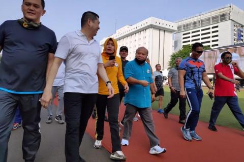 KSAD Olahraga Bersama Pemimpin Redaksi Sejumlah Media