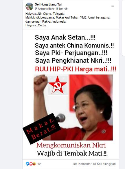 [Cek Fakta] Megawati Mengaku Dirinya Pengikut Paham Komunis Hoaks, Ini Faktanya