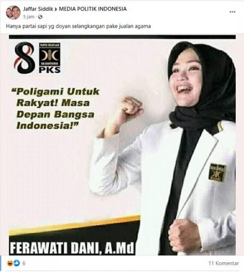 [Cek Fakta] Kader PKS Sebut Poligami untuk Rakyat, Masa Depan Bangsa Indonesia? Ini Faktanya